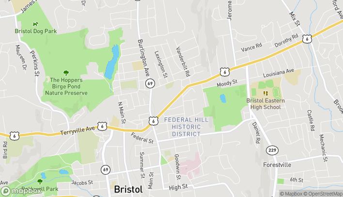 Mapa de 123 Farmington Ave en Bristol