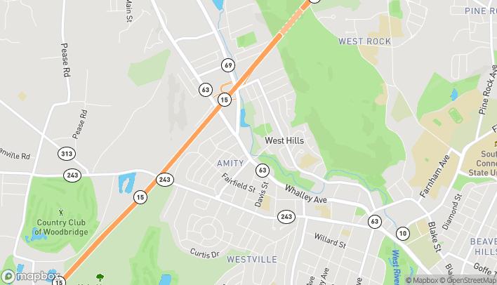 Mapa de 1455 Whalley Ave en New Haven