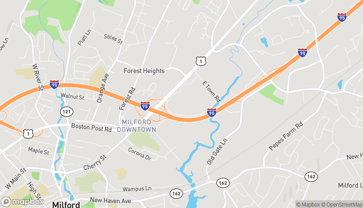 Map of 1201 Boston Post Rd in Milford