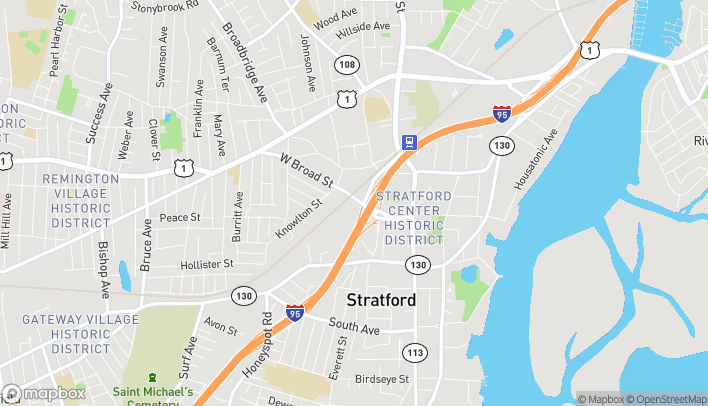 Map of 1279 W Broad St in Stratford