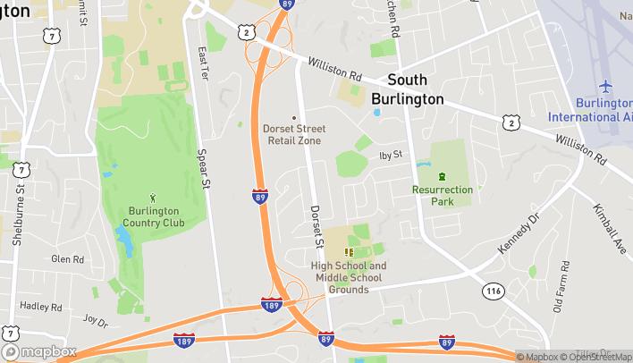 Mapa de 344 Dorset St en South Burlington