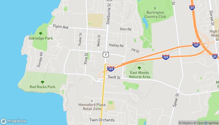 Mapa de 580 Shelburne Rd en Burlington