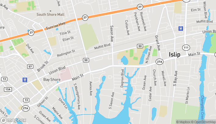 Map of 583 E Main St in Bay Shore