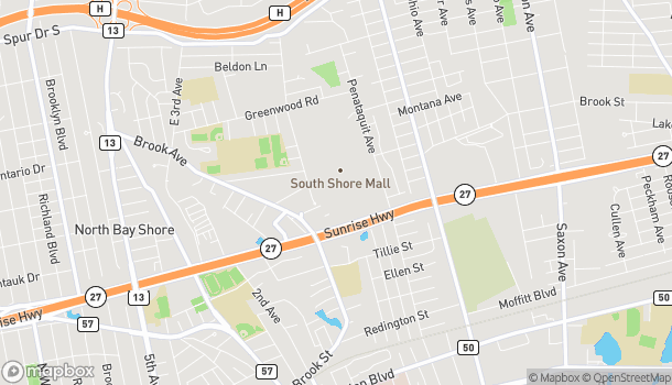 Map of 1701 Sunrise Highway in Bay Shore