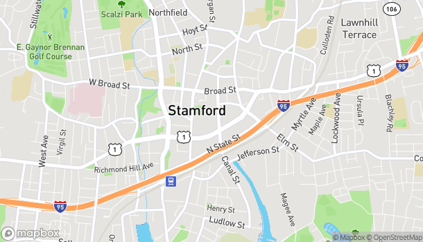 Map of 100 Greyrock Place in Stamford