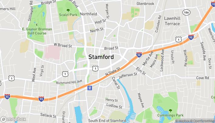 Mapa de 100 Greyrock Place en Stamford
