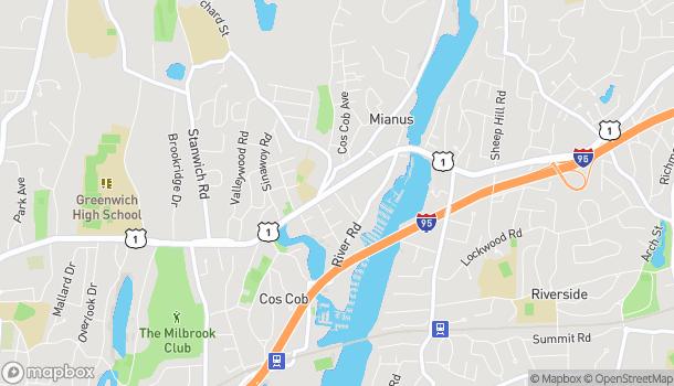 Mapa de 409 E Putnam Ave en Cos Cob