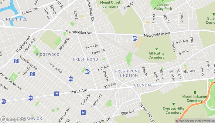 Map of 6676 Fresh Pond Rd in Ridgewood