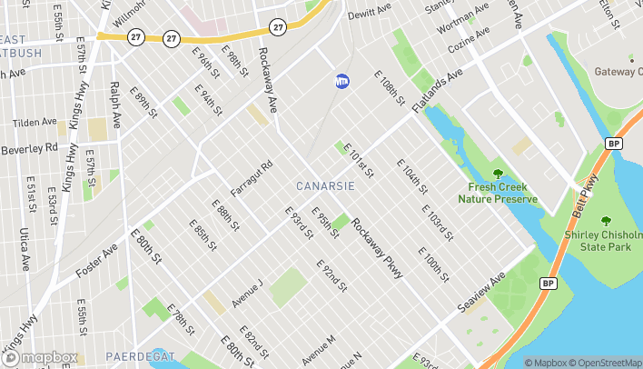 Map of 1498 Rockaway Parkway in Brooklyn
