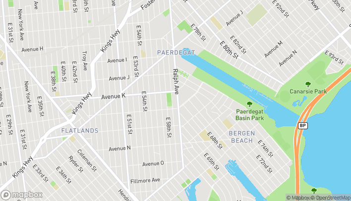 Map of 2152A Ralph Ave in Brooklyn