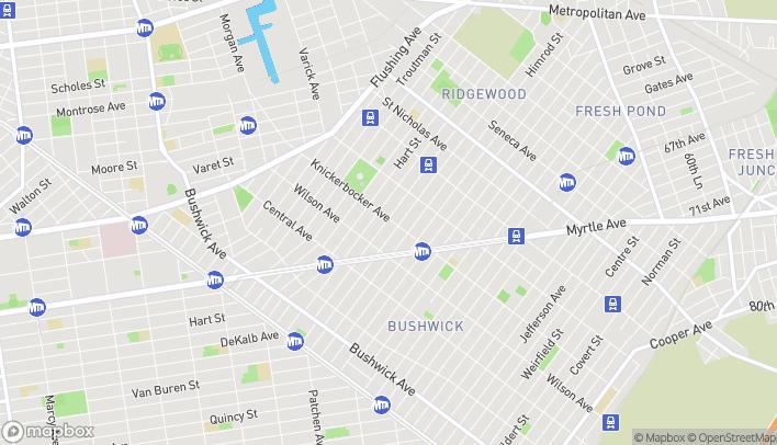 Map of 362 Knickerbocker Avenue in Brooklyn