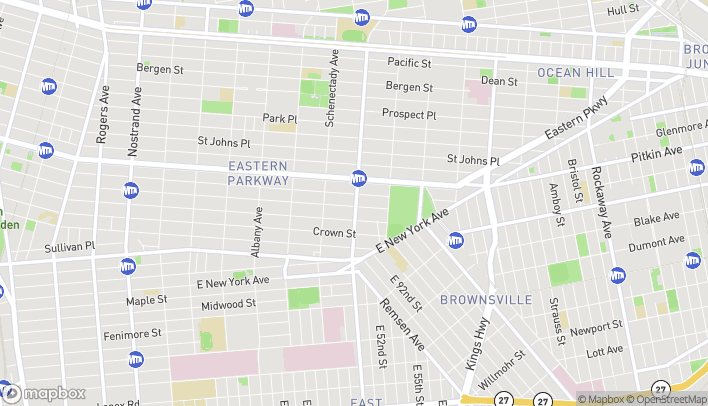 Map of 318 Utica Avenue in Brooklyn