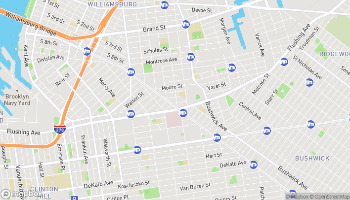 Map of 21 Graham Avenue in Brooklyn