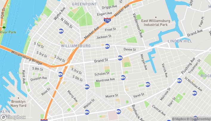 Map of 692 Grand St in Brooklyn