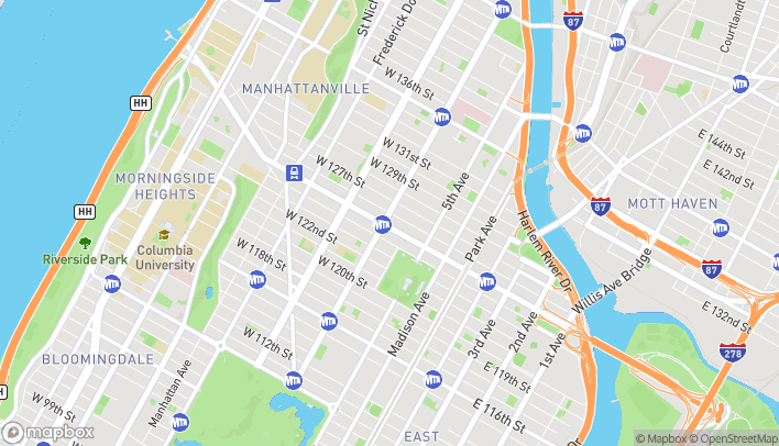 Map of 81 West 125th Street in New York
