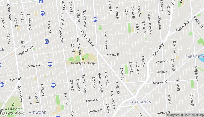 Map of 1610 Flatbush Avenue in Brooklyn
