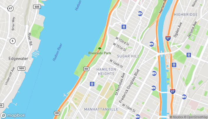 Map of 3545 Broadway in New York