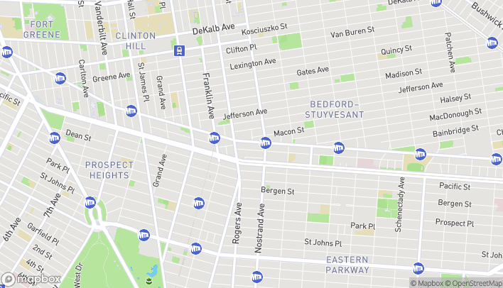 Map of 1232 Fulton St in Brooklyn