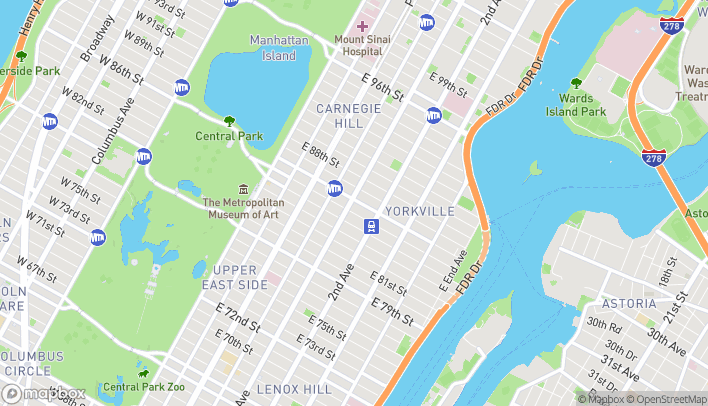 Map of 200 East 86th Street in New York