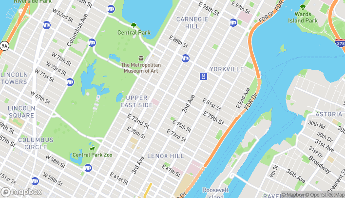 Map of 1382 3rd Ave in New York