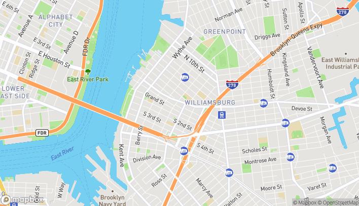 Map of 266 Metropolitan Avenue in Brooklyn