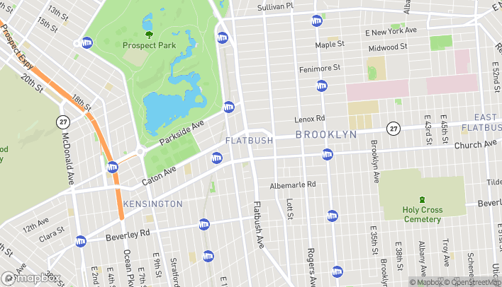 Map of 841 Flatbush Ave in Brooklyn