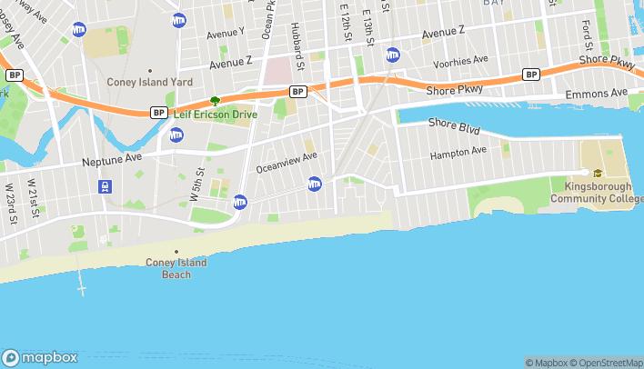 Map of 618-620 Brighton Beach Avenue in Brooklyn