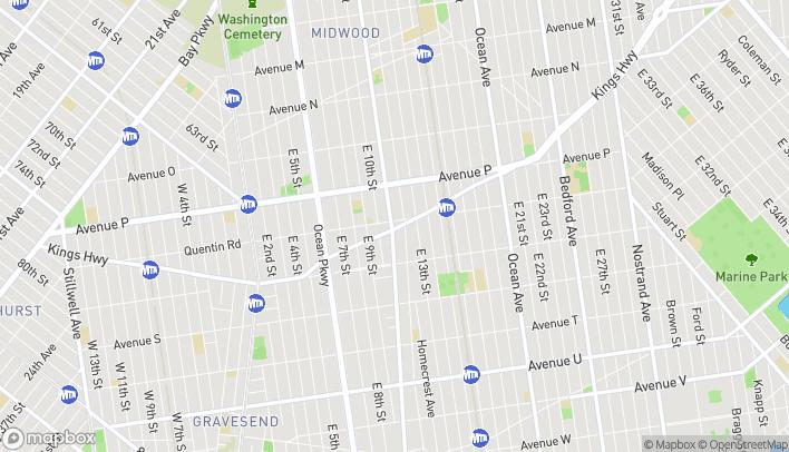 Map of 1101 Kings Highway in Brooklyn