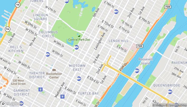 Map of 773 Lexington Avenue in New York