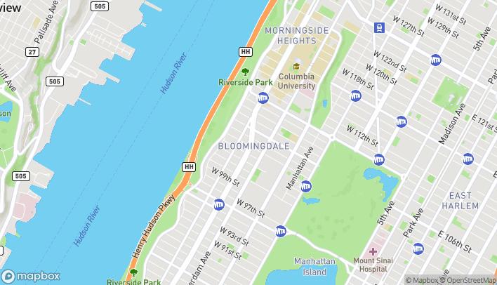 Mapa de 2727 Broadway en New York