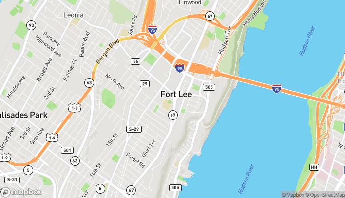 Mapa de 1625 Lemoine Avenue en Fort Lee
