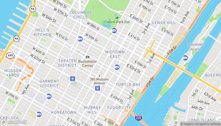 Map of 350 Park Avenue in New York