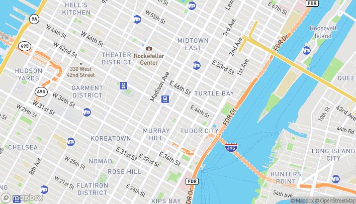 Map of 425 Lexington Avenue in New York