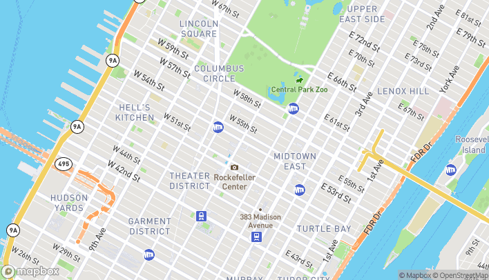 Map of 1330 Avenue Of The Americas in New York