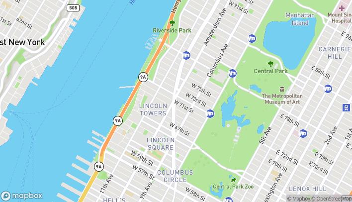 Mapa de 2066 Broadway en New York