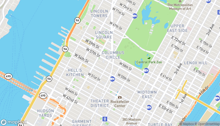 Map of 250 West 57th Street in New York
