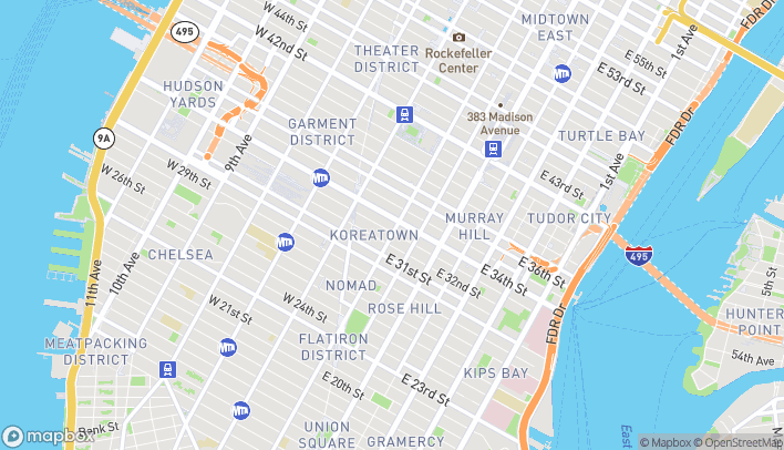 Map of 350 Fifth Ave in New York