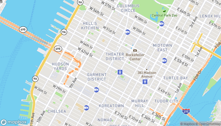 Map of 3 Times Square in New York