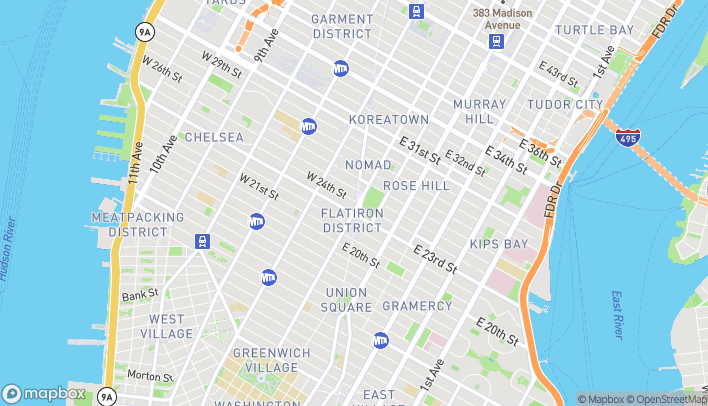 Map of 200 5th Avenue in New York