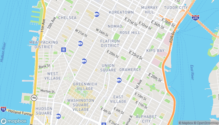 Map of 31 East 17th Street in New York