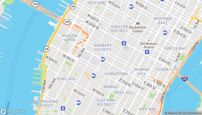 Map of 209 West 34th Street in New York