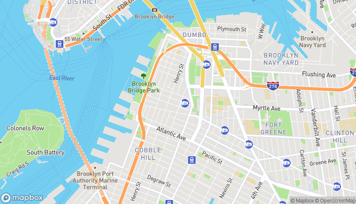 Map of 160 Montague Street in Brooklyn