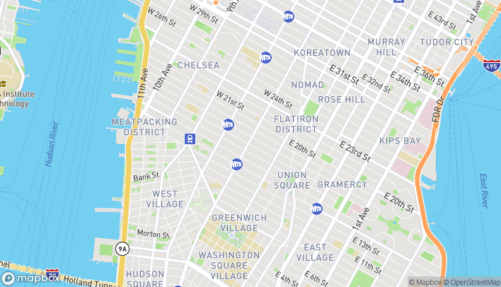 Map of 592 6th Avenue in New York