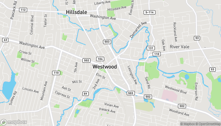 Map of 153 Westwood Avenue in Westwood