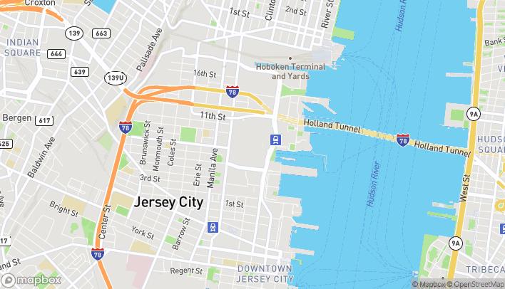 Mapa de 30 Mall Drive West en Jersey City