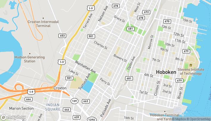 Mapa de 311 Central Avenue en Jersey City