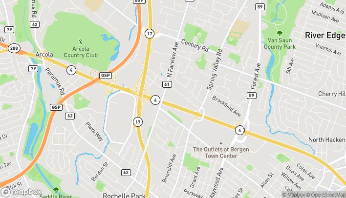 Mapa de 65 E State Rt 4 en Paramus
