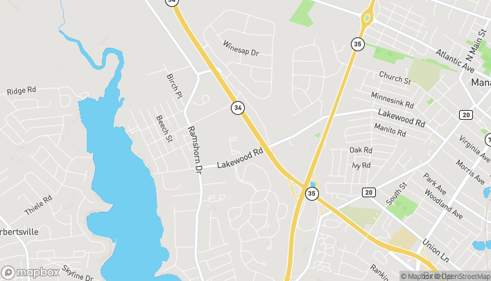 Mapa de 2435 Route 34 South en Manasquan