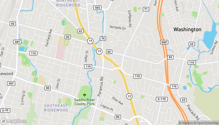 Mapa de 367 Route 17 South en Ridgewood