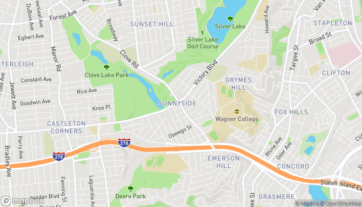 Map of 1265 Clove Road in Staten Island